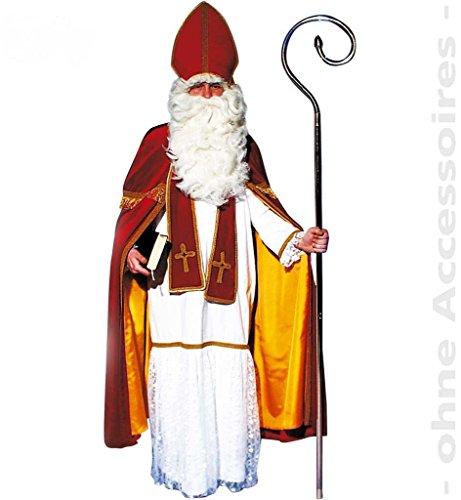 Bischofskostüm, für Erwachsene Nikolaus, Weihnachten, 4 tlg. (Kostüm Jungs Für Engel)