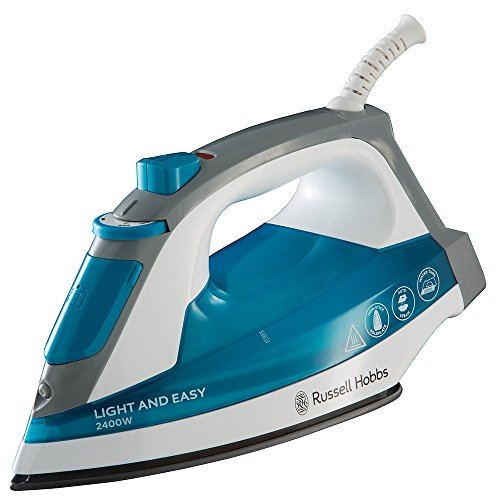 Russell Hobbs 23590-56 Supreme Steam Light & Easy - Plancha de vapor, 2400 W, color azul y blanco