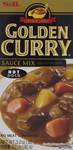 S & B Golden Curry Mix (scharf), 92 g (Goldener Curry Mix)