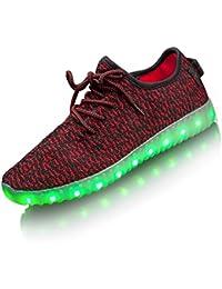 LEADFAS Zapatos LED, 7 Colores Iluminan Hasta La Zapatilla de Deporte Hombres de Las Mujeres USB de Carga de Los Entrenadores Para el Día de Navidad Regalo LED Zapatillas