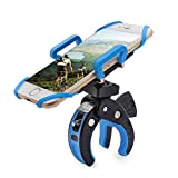 Giwox Bike Phone Mount Holder, Adjustable Cell Phone Cradle Rack with Rubber Straps and 360 Degree Rotation for Motorcycle / Bike Handlebar Roll Bar, Suit for iPhone 6/6s, 6/6s Plus, 5/5s/5c, Galaxy S4/S5/S6, Nokia, Motorola, GPS and More (Blue)