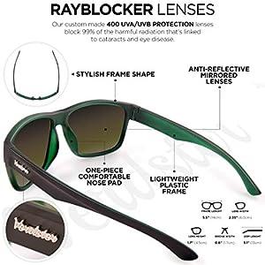 Verdster Gafas de sol Polarizadas TourDePro Para Hombres y Mujeres - Montura Cómoda con Protección UV - Incluye un estuche duro, funda suave y un pañuelo