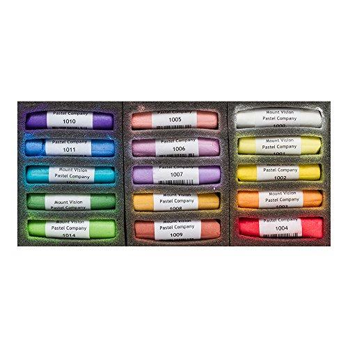 Mount Vision Soft Pastel : Set of 15 : Iridescent Colours -
