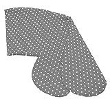 Sugarapple Ersatz Stillkissenbezug 180 cm für die Sugarapple oder Theraline Original Still- & Seitenschläferkissen, Bezug aus 100% Baumwolle mit Reißverschluss, Grau mit weißen Sternen