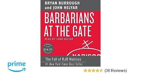 barbarians at the gate burrough bryan helyar john