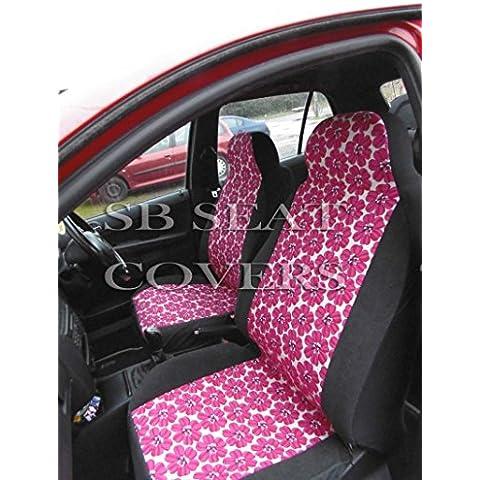 Toyota RAV4/Verso Coprisedili Set completo–Hippy fiore rosa