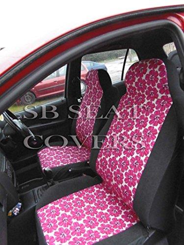 Twingo/Modus Car Seat Covers set completo-hippy fiore rosa