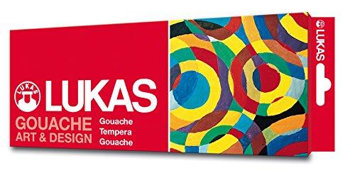 Lukas Gouache ART & DESIGN, 12 x 12ml Set feinste Künstler-Gouache