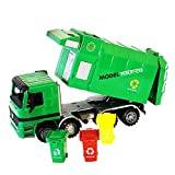 Womdee Camión de Basura para Mujer, 14.6 Pulgadas, tamaño Grande, para niños, con 3 latas de Basura