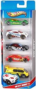 Hot Wheels - Pack de 5 vehículos (Mattel 1806) - surtido: modelos/colores aleatorios