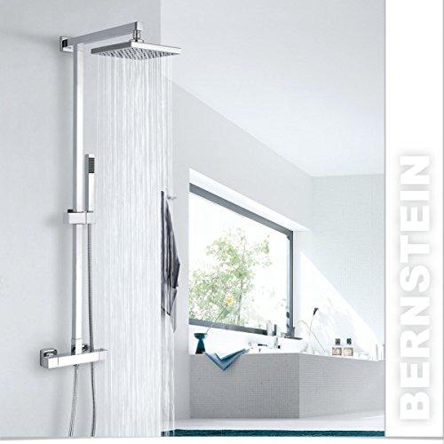 Design-Duschsystem Duschsäule SEDAL-Thermostat 8921C Basic, Auswahl Duschkopf:Edelstahl verchromt 40x40cm