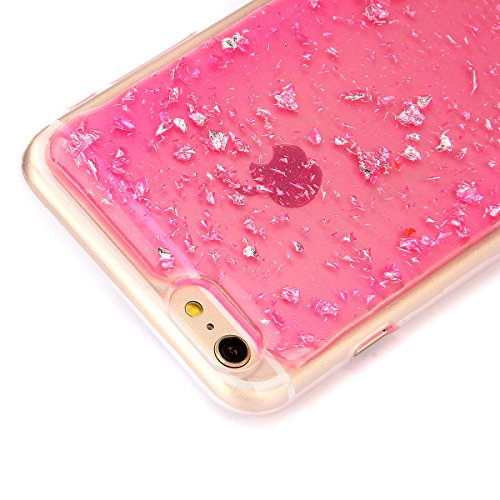 Custodia iPhone 6S Plus, Custodia iPhone 6 Plus, Case Cover per iPhone 6S Plus / 6 Plus, ikasus® Shiny Sparkly Bling Bling Glitter iPhone 6S Plus / 6 Plus Custodia Cover [Crystal TPU] [Shock-Absorptio Rosa Scintillio Bling