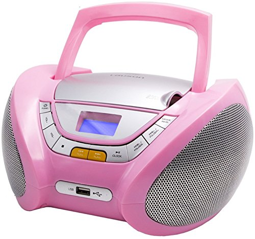 CD-Player | Tragbares Stereo Radio | Kinder Radio | Stereo Radio | Stereoanlage | Boombox | LCD-Display | USB-Anschluss | AUX IN | FM Radio (Display Boombox Mit)