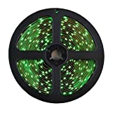 Allbuymall Striscia LED Impermeabile IP65 5M RGB 300 LEDs 3528 SMD LED Strip DC 12V, Verde
