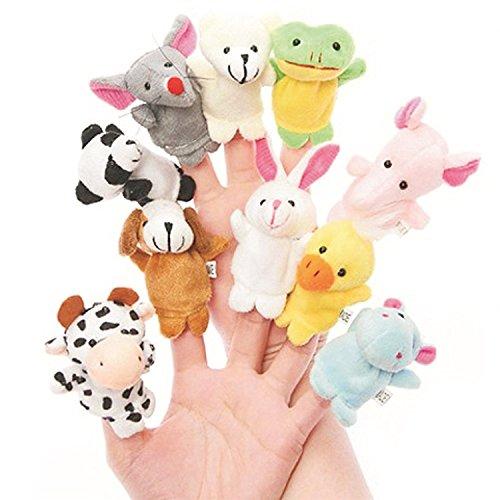Everbuy ™ Cute Animal Finger Puppet, Multi Color (Animal Puppet (10pcs))