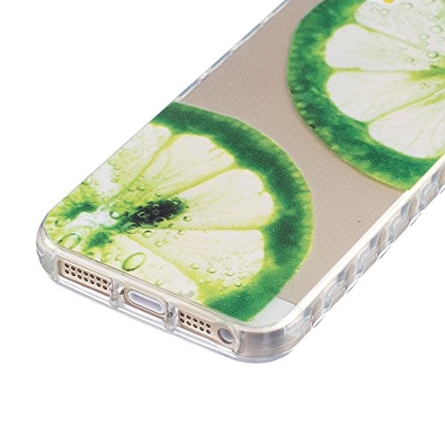 Apple iPhone 5/5S/SE Silicone Coque, Yaking® (3 in 1) Silicone TPU Case Crystal clear Transparent Cover Étui Housse pour Apple iPhone 5/5S/SE P-10