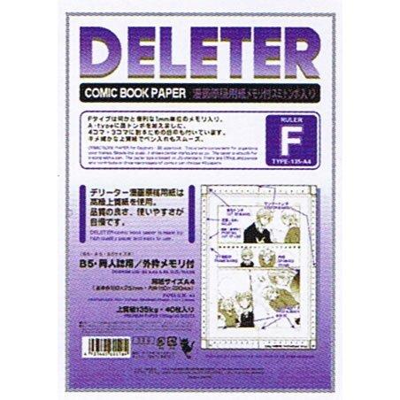 Papel de Dibujo Manga Deleter Papel A4 Tipo F 135kg con Sumitombo Regla (Japón importación)