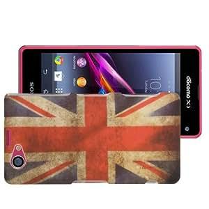 Rocina HardCase Schutzhülle für Sony Xperia Z1 Compact / Z1 Mini Retro Flagge UK England