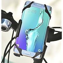 Color Dreams® Supporto per cellulare bicicletta bici o moto universale, tripla fissaggio sicuro per tutti i tipi di telefoni cellulari come iPhone 6S 6S 6 giugno plus plus 5 5S 5C 4 4S, Samsung Galaxy S7 / S6 / S5 / S4 / Nota 4/3, Sony, BQ, Motorola, Google Nexus , LG G3 e molti altri telefoni o dispositivi GPS