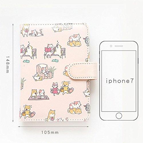 Zantec ordinateur portable mignon Dessin animé Housse pour ordinateur portable Portable haute qualité Journal Diary Book rose
