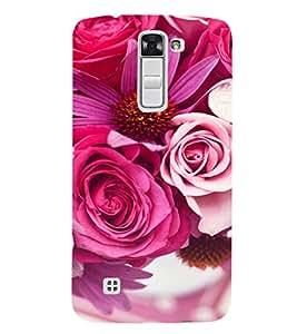 EPICCASE Pink roses Mobile Back Case Cover For LG K7 (Designer Case)
