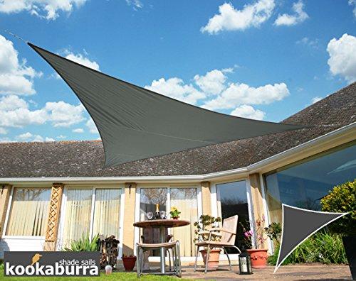 Kookaburra Wasserfest Sonnensegel 6,0m x 4,2m Rechtwinkliges Dreieck Anthrazit