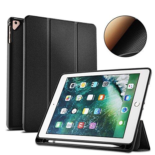 Heffuny Ständer Hülle für Apple iPad 9.7 Zoll 2017 2018, PU-Leder-Abdeckung Tasche Etui Schutzhülle Halter für iPad 9.7