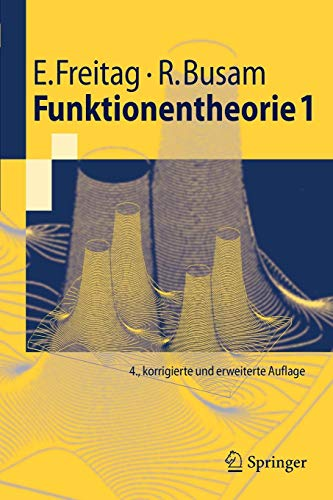 Funktionentheorie 1 (Springer-Lehrbuch) (German Edition) -
