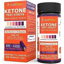 Análisis de orina tiras de prueba de cetona Pruebas niveles de Cetonas para diabéticos Low Carb & quema de grasa dieta Controlar ketogenic Paleo diabético o ...