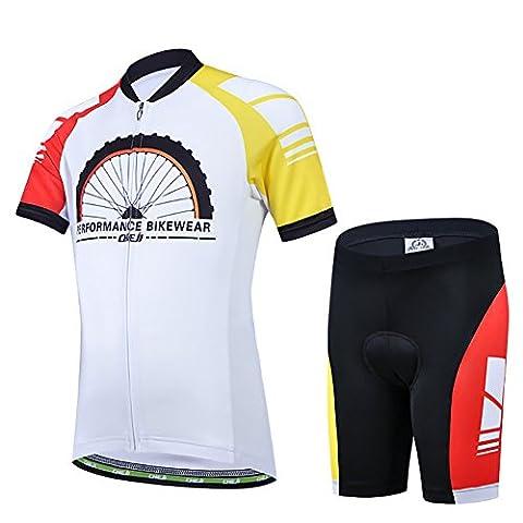Freefisher Maillot de cyclisme junior manches courtes + cuissard enfant XXL