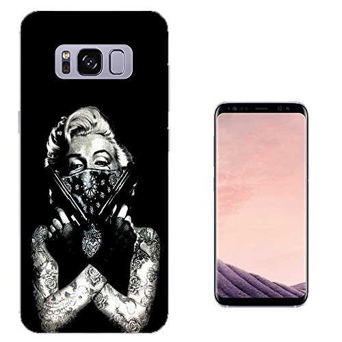003307 - Marilyn tattoos guns bandit Design Samsung Galaxy S8 Fashion Trend Silikon Hülle Schutzhülle Schutzcase Gel Rubber Silicone Hülle (Tattoo Gucci)