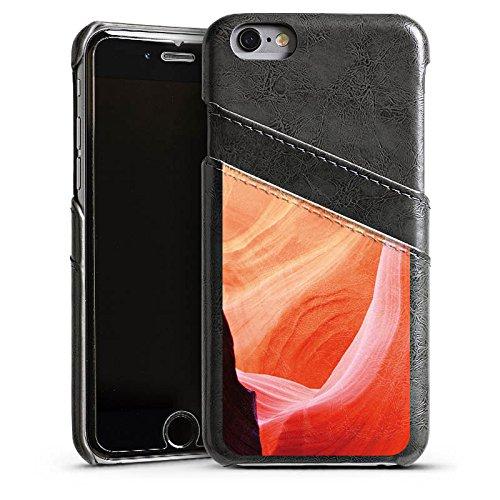 Apple iPhone 6 Housse Étui Silicone Coque Protection Nature Pierre Amérique Étui en cuir gris
