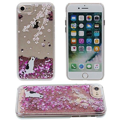 iPhone 7 Coque, Charmant Animal Girafe Motif Série Flowable Eau Étoiles Dur Clair Plastique Transparent Housse de Protection Case pour Apple iPhone 7 4.7 inch color-2