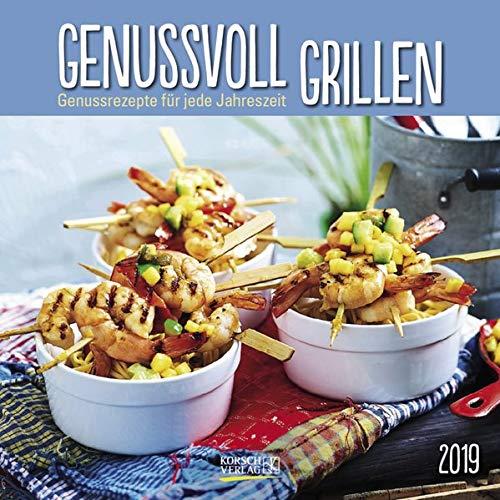 51IPps51cwL - Genussvoll Grillen (BK) 228119 2019: Broschürenkalender mit Ferienterminen. Jeden Monat ein neues Rezept für dwn Grill. Format: 30 x 30 cm
