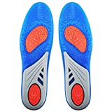 HLYOON GEL Sports Orthotic Insoles, Full Length Performance Shoe Insoles, Relieve Foot Pain and Fasciitis (UK Womans (3-8))