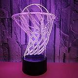 YI KUI Schreibtischlampen Basketball-Korb 3D-Lichter bunte Touch-3D-LED-Nacht Lightports 3D-Mall Tischleuchte