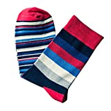 XuxMim Männer bunte Herbstmode Farbe gestreift so Socken in Rohr beiläufige Baumwollsocken