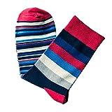 KPILP 1 Paar Men's Fashion Fashion Striped Baumwolle Freizeitsocken Socken atmungsaktive weiche dicke Socken Casual Socken Herbst Winter,Schwarz