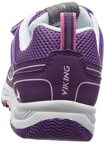 Viking Hugin, Sneakers basses mixte enfant Violet - Violett (Plum/Dark Pink 6239)