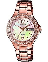 19013b4f43f0 Casio Sheen – Reloj de Pulsera analógico para Mujer Cuarzo Acero Inoxidable  She ...