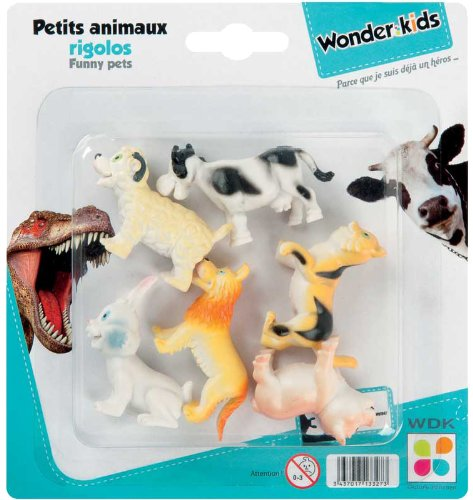 WDK PARTNER - A1300119 - Figurines - 6 animaux rigolos