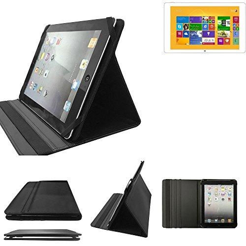 K-S-Trade Kiano Intelect 8.9 MS 3G Schutz Hülle Business Case Tablet Schutzhülle Flip Cover Ultra Slim Bookstyle Tasche für Kiano Intelect 8.9 MS 3G, schwarz. Kunstleder Qualitätsware