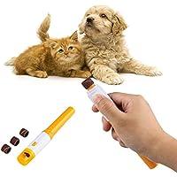 DOS Pet Nail Clipper, elektrische schmerzlose Pet Nail Clipper Automatische Pet Grinder Hunde Katzen Paw Trimmer Cut Grooming(Gelb)