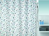 Spirella 10.16741 Textil-Duschvorhang Tuttio Blue, 180 x 200 cm