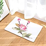 LYJZH Badezimmer Dusche Teppiche Bereich Fußmatte Wohnzimmer Sofa Kissen Fuß Pad Teppich Flanellmatte Blume saugfähige Matte Farbe10 40 * 60cm