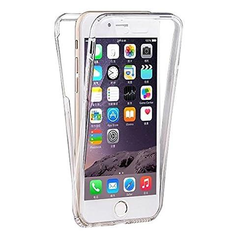 Coque-personnalisable® COQUE INTEGRALE IPHONE 7 AVANT ARRIÉRE TRANSPARENT ÉTUI HOUSSE EN SILICONE GEL