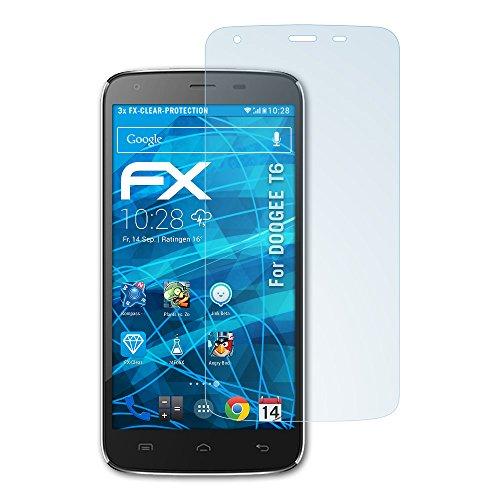 atFolix Schutzfolie kompatibel mit DOOGEE T6 Folie, ultraklare FX Bildschirmschutzfolie (3X)
