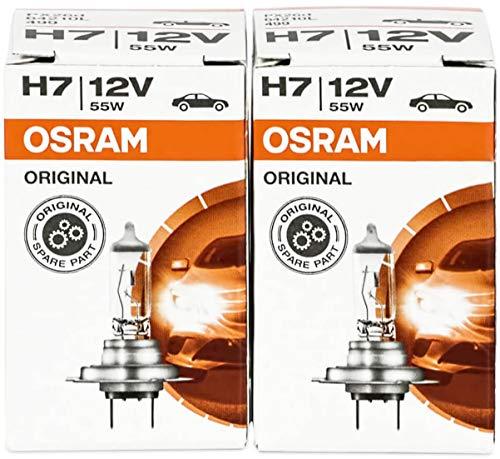 Osram H7 Longlife High Tech 12V 55W PX26d 64210L 2 Stück Lampen Autolampen Glühlampen -