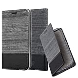 Cadorabo Book Case works with WIKO TOMMY 3 in GREY BLACK