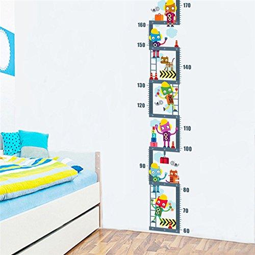 Open Buy Height-measuring Autocollant avec motif robot pour chambre d'enfant/bébé \\